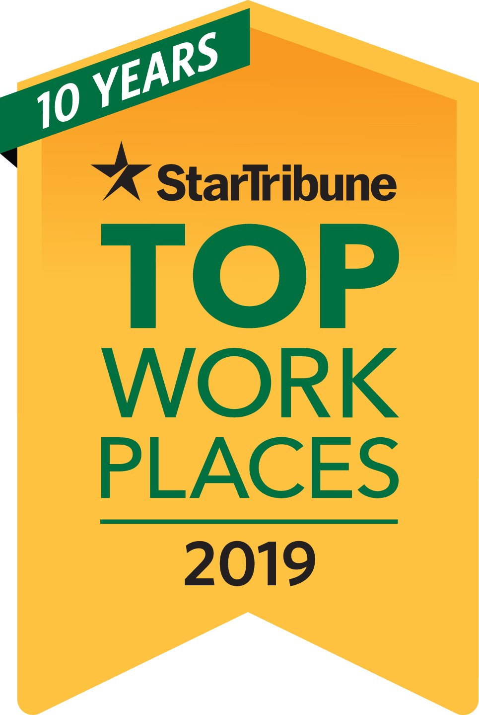 2019 Top Workplaces badge